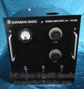 Sertifikasi Produk Booster 2 Meter Band 144Mhz Tabung